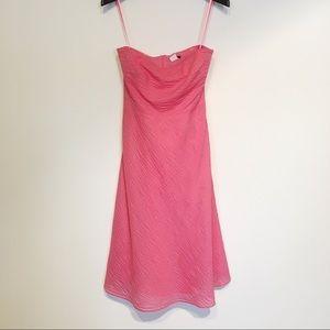 J Crew Pink Strapless Mini Dress 100% Cotton 4